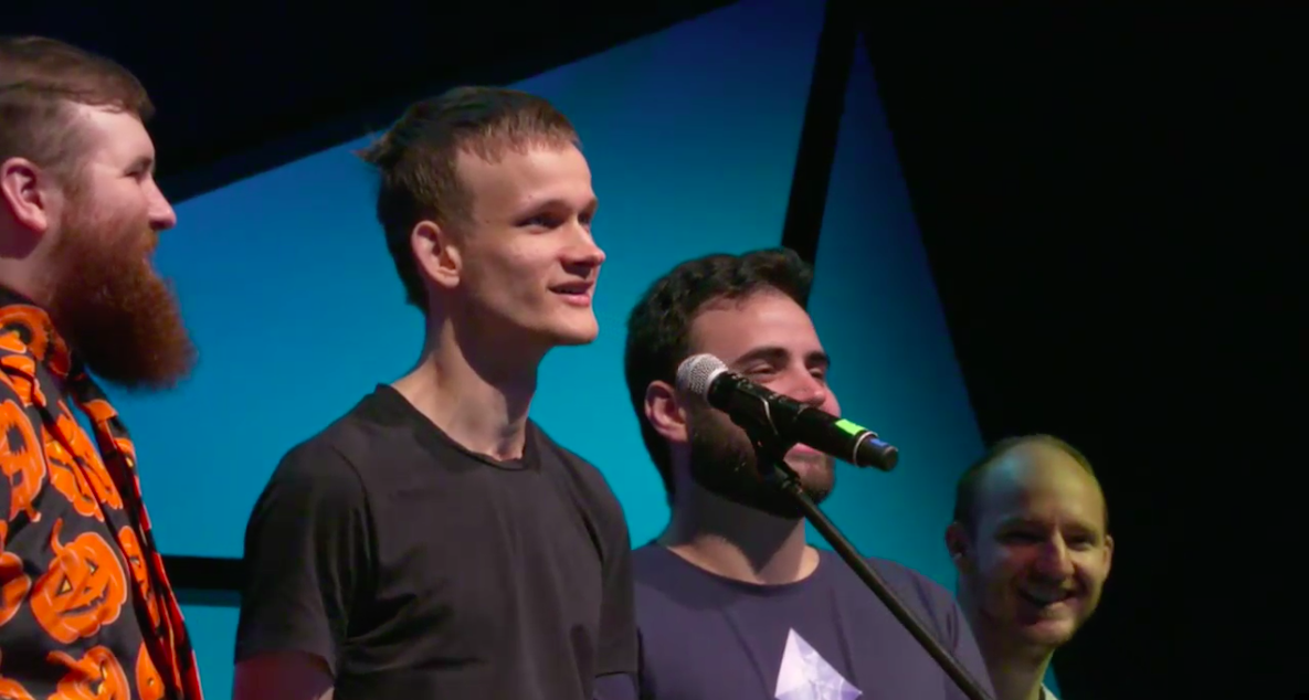 Vitalik Ends Devcon Talk With Sing-a-Long About Failed Ethereum Ideas - CoinDesk